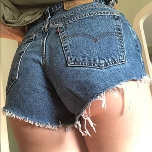 Vintage Levi Denim Cut Off Shorts
